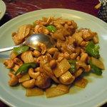 中国料理 正邦 - 鶏とカシューナッツ炒め。