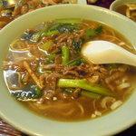 中国料理 正邦 - 肉そば。