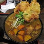 極楽うどん Ah-麺 - 豚天と根菜のカレーうどん