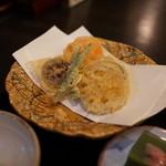やぶそば - 粗挽きそばの野菜天ぷら