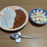 五島軒 - ハヤシライスをサラダと共に
