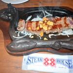 ステーキハウス88 Jr. - JUNIORステーキ200g1000円(サラダ・スープ・ライス食べ放題)