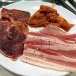 すたみな太郎 - カルビ+タン+鶏