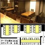 Wafu Dining Bar 欒 ‐Lan‐ - 「9」【32名貸切】20名前後~32名でご利用いただける貸切空間です。