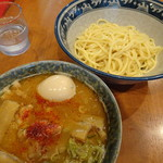 中華そば 中村屋 - つけ麺(並)(830円)+味玉(100円)+メンマ(140円)