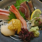 割烹 魚吉 - 料理写真:刺身の盛り合わせ1人前