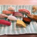 金沢まいもん寿司 - 寿司10貫で1780円のランチ