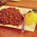 66993023 - 北京風 細切り鴨肉の甘味噌炒め