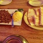 66993025 - 北京風 細切り鴨肉の甘味噌炒め(中国パン付き)