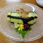 百干 - 水茄子の刺身