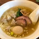 66996269 - 【塩ワンタン麺5個+味付玉子…920円+100円】♫2017/4