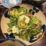 恩納そば - ゴーヤ炒め(580)