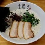 金田家 - 黒豚らーめん(650円)