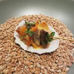 メログラーノ - 赤貝の燻製