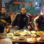 6701877 - 食事に夢中なアラビヤの親父さん達