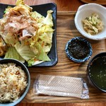 沖縄ごはん くくる食堂 - フーチャンプルー定食