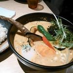 Rojiura Curry SAMURAI.  - 挽き肉温玉納豆カレー マイルドココナッツスープ