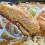 麺屋ここいち 元祖尾張中華そば - 手仕込トンカツも極厚で食べ応えがあります。