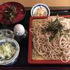 たまち屋 - 料理写真:そばとマグロ中落ち丼820円