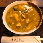 お多やん - カレー鳥とじうどん(780円)