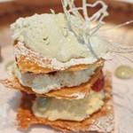 リストランテ ベツジン - クリームたっぷりのミルフィーユ、       上品な甘さで、めちゃめちゃ美味しい~♪