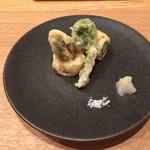 日本料理 e. - あいなめ アスパラ