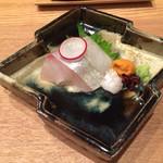 日本料理 e. - うに しまあじとマコガレイ