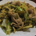 67017741 - 豚ホルモンの高菜炒め