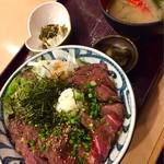 totoguranemuro - エゾ鹿ロースト丼サービス大盛950円税込