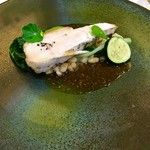 エクロール - 佐賀産地鶏のソテー  中はシットリ、マスタードソースが美味しい(*^_^*)