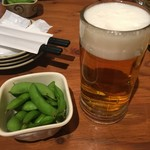 酒友龍馬 - ビール お通し