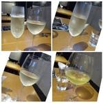 自然派ビストロCORE - ◆頂いたワイン。 「シゼン:800円」「ヤルデン:950円」「スプマンテ:価格不明」など。 シゼンとスプマンテは飲みやすい品。ヤルデンはお勧めだと言われたのですが、少しクセがありました。