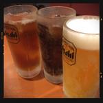 四川麻辣火鍋 天府 - 生ビール&コーラ&ウーロン茶