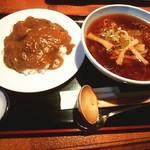 キッチンサンボ - カレー・ラーメンセット850円