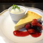 ニューヨークチーズケーキ バニラアイス付き