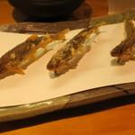 67029744 - 稚鮎の天ぷら 蓼酢