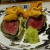 天ぷら 大坂屋 草哲 - 料理写真:淡路島由良のうにとフィレ肉の贅を尽くした一品。