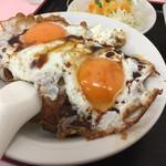 重松飯店 - 焼豚玉子飯。若者の食欲を満足させます。