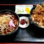生蕎麦 日高 - かき揚げ丼セット 1050円