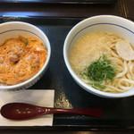 なか卯 - 親子丼のセット(*゚∀゚*)