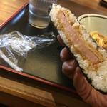 さぬき麺市場 郷東店 - おにぎらず←ハムカツ