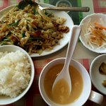 中国料理龍飯店 - ニラ豚定食