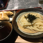 手打ちうどん 讃岐つけ麺 - 料理写真:鶏のささみ天 ざるうどんのセット900円