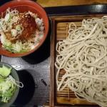 67037569 - タレカツ丼セット(蕎麦大盛)700円