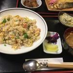 67039644 - お魚の日替わりランチ   サーモン炒飯
