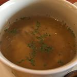 シンカフェ - ランチセットのスープ