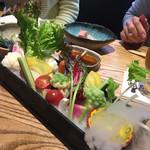 67041405 - 秦野野菜の和ーニャカウダ 880円                                              CP良しで美味しいです!ソース絶品!