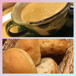 肉酒場ビストロ男前 - コーヒー。胚芽パン&ライ麦パン