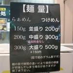 67045273 - 麺量は中盛無料。