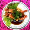 アムリタ食堂 - 料理写真:近日発売♪揚げた海老のタマリンドソースかけ